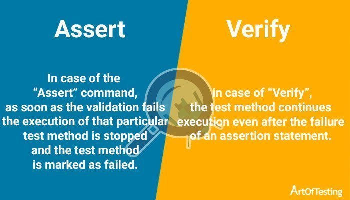 assert vs verify