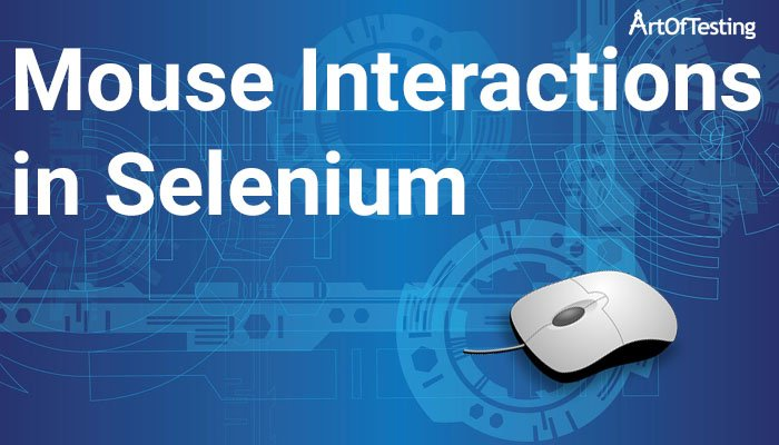 mouse interactions in selenium