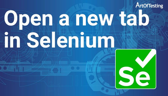 Open new tab in Selenium