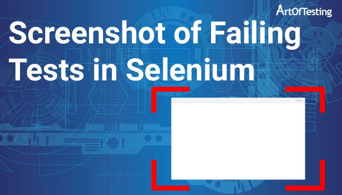 Screenshot of Failing Tests in Selenium