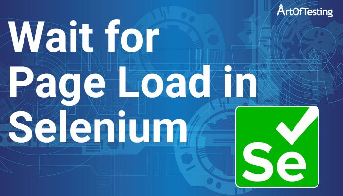 wait for page load in selenium