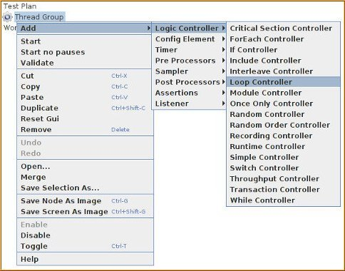 Logic Controllers in JMeter