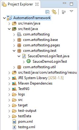 Selenium with Java automation framework